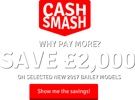 save up to £2000 on new bailey caravans now