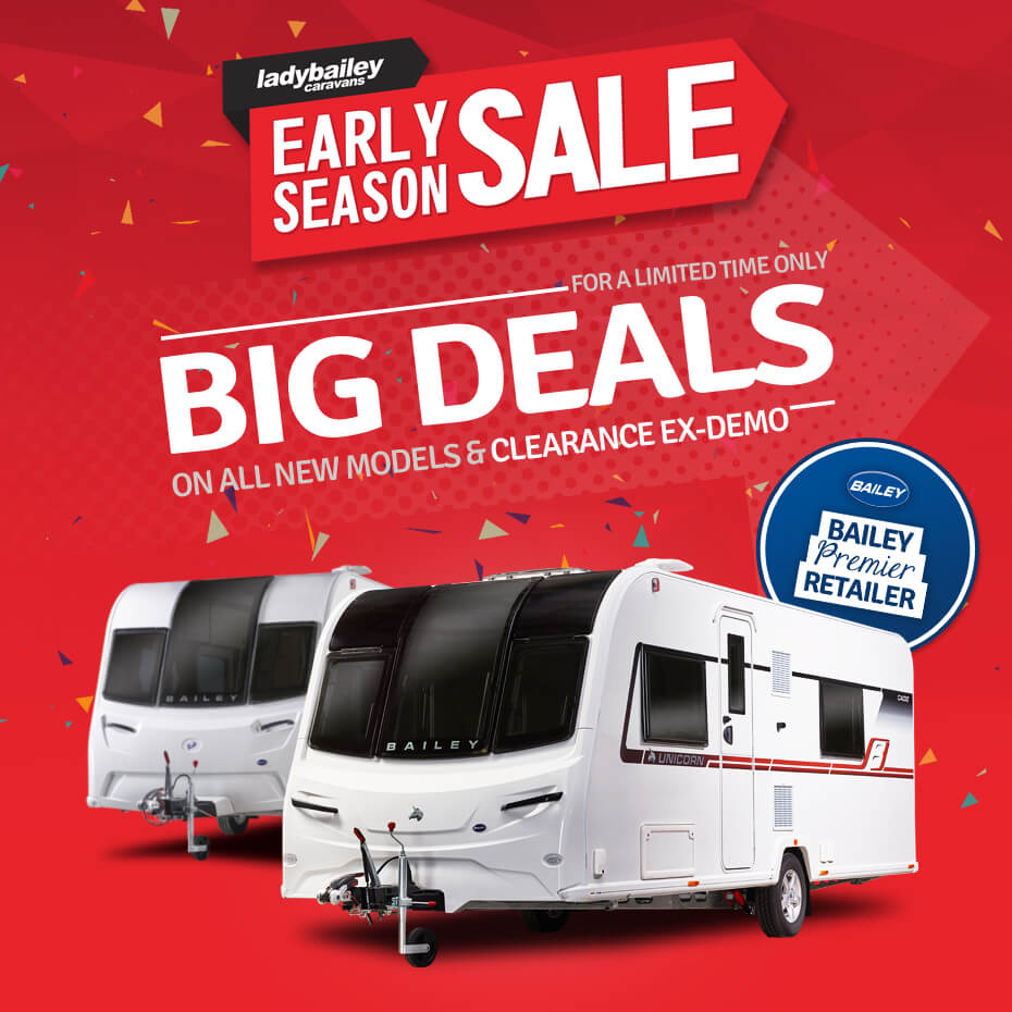 bailey caravans early season sale offers