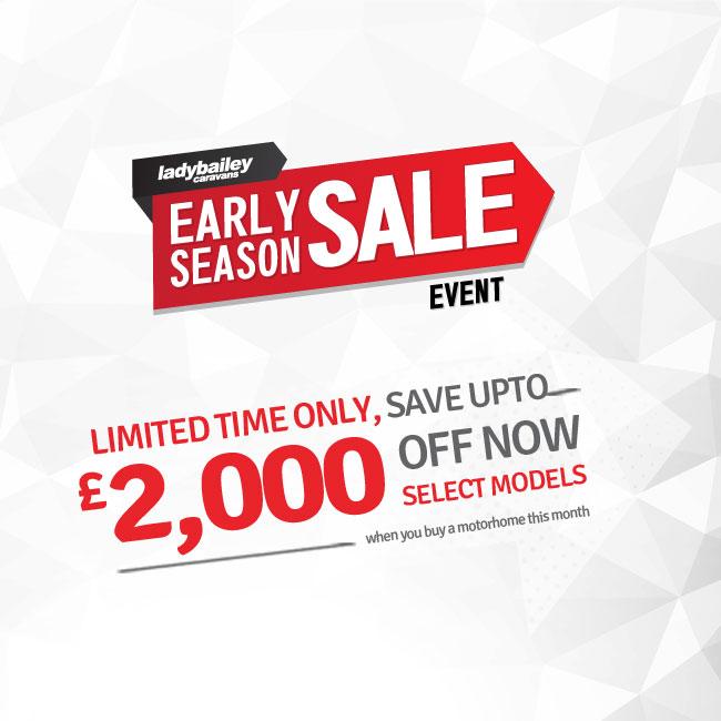 motorhomes early season sale offers