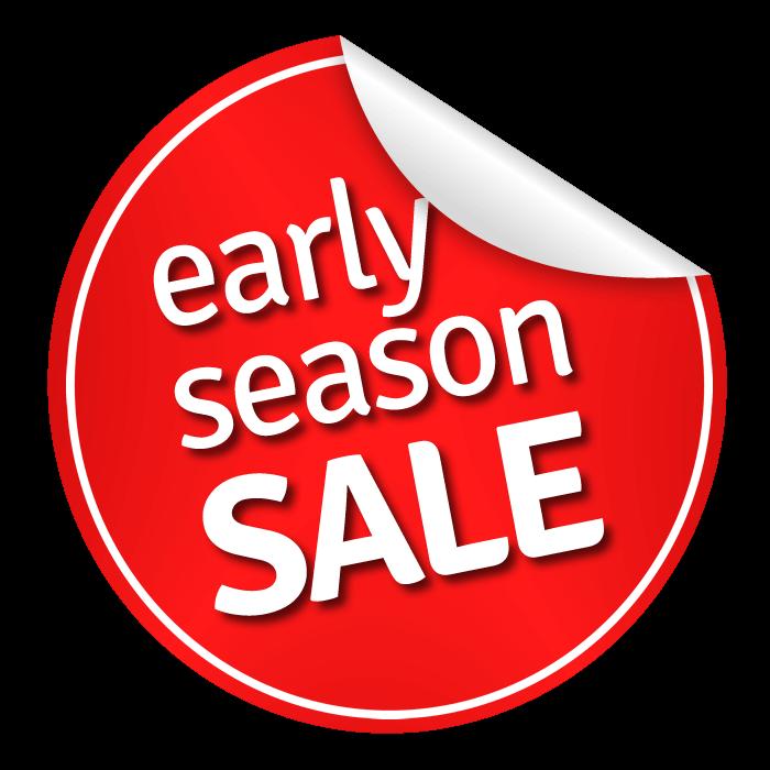 early season sale now on