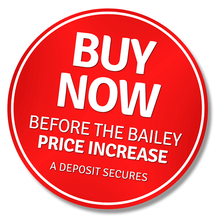 Buy now before the Bailey Caravans price rise